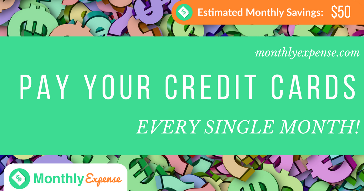 Pay off your Credit Cards EVERY MONTH! 2 Very important reasons why