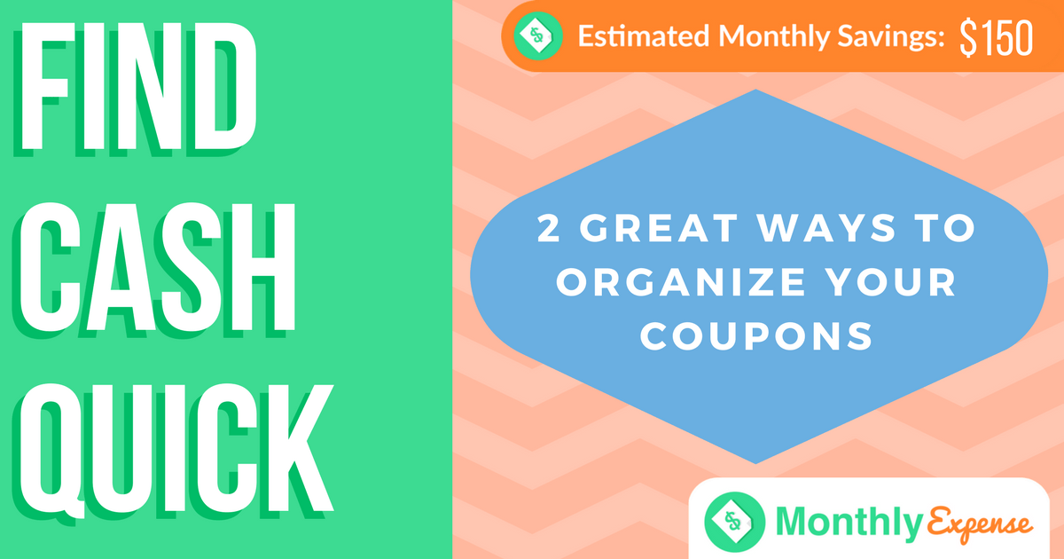 2 Great Ways to Organize Your Coupons