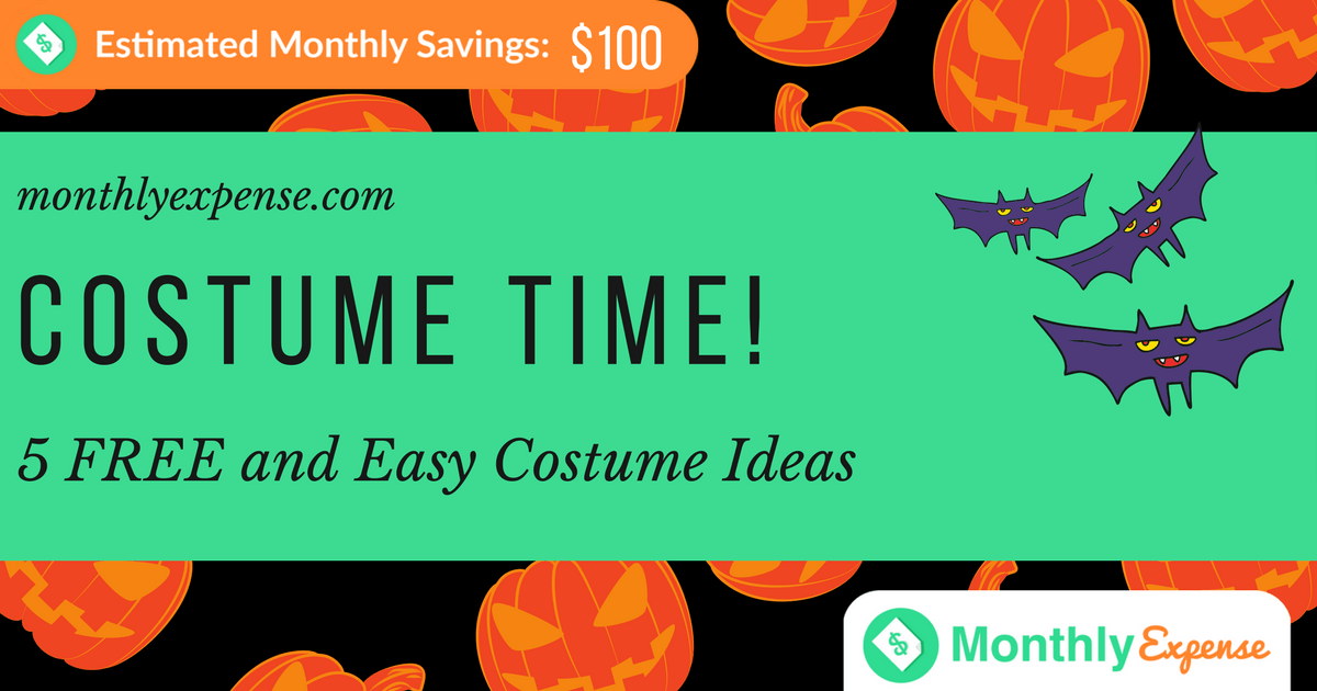 5 FREE and Easy Costume Ideas