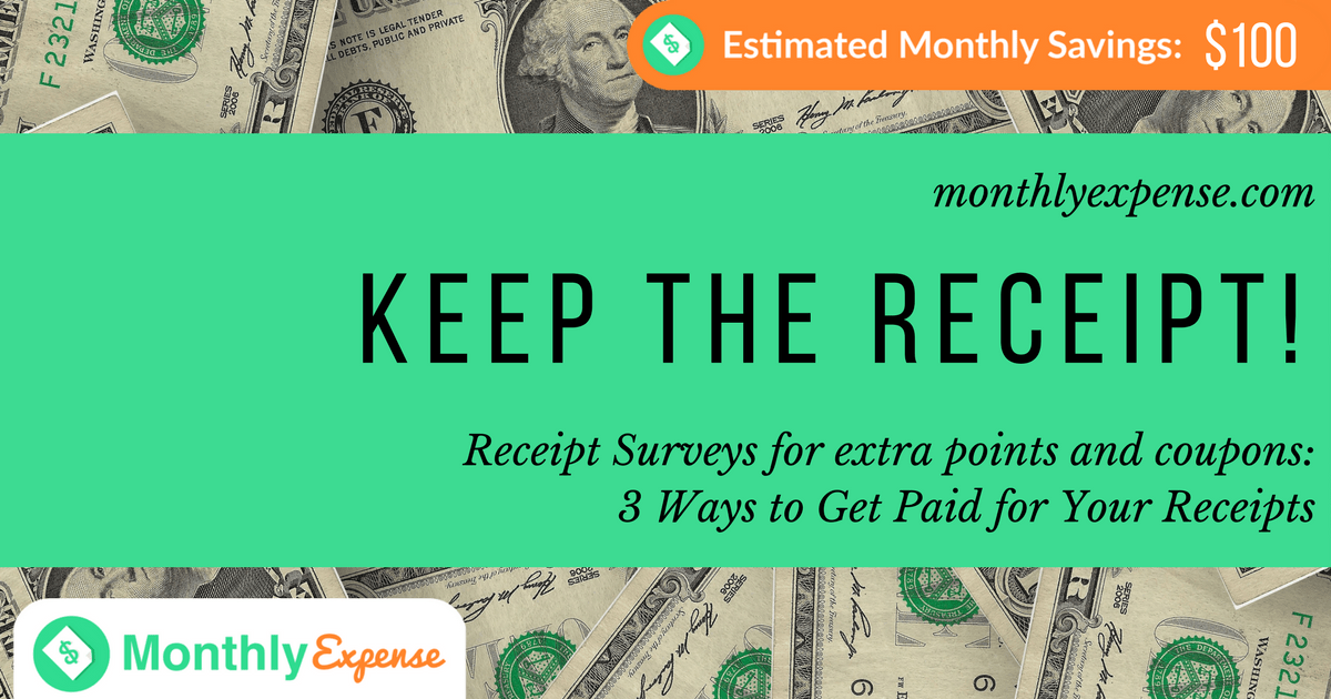 Receipt Surveys for extra points and coupons: 3 Ways to Get Paid for Your Receipts
