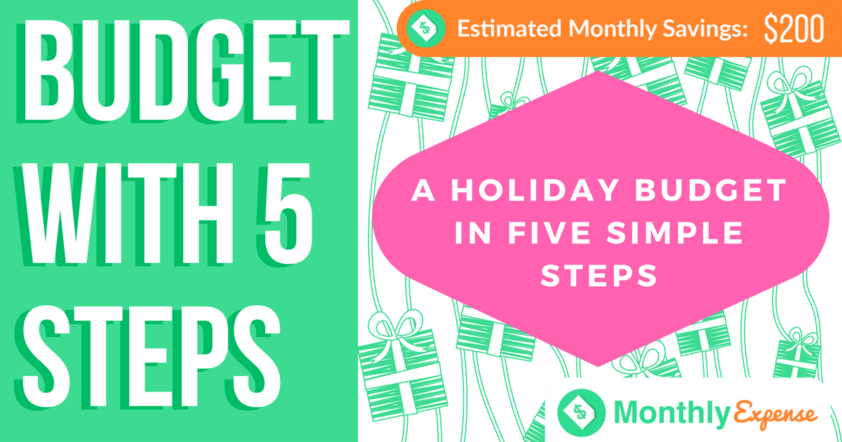 A Holiday Budget in Five Simple Steps