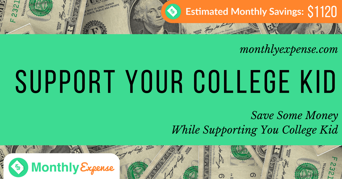Save Some Money While Supporting You College Kid