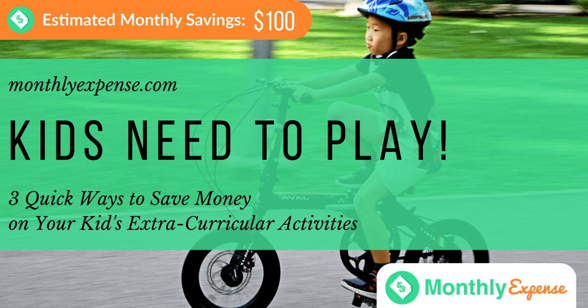 3 Quick Ways to Save Money on Your Kid's Extra-Curricular Activities