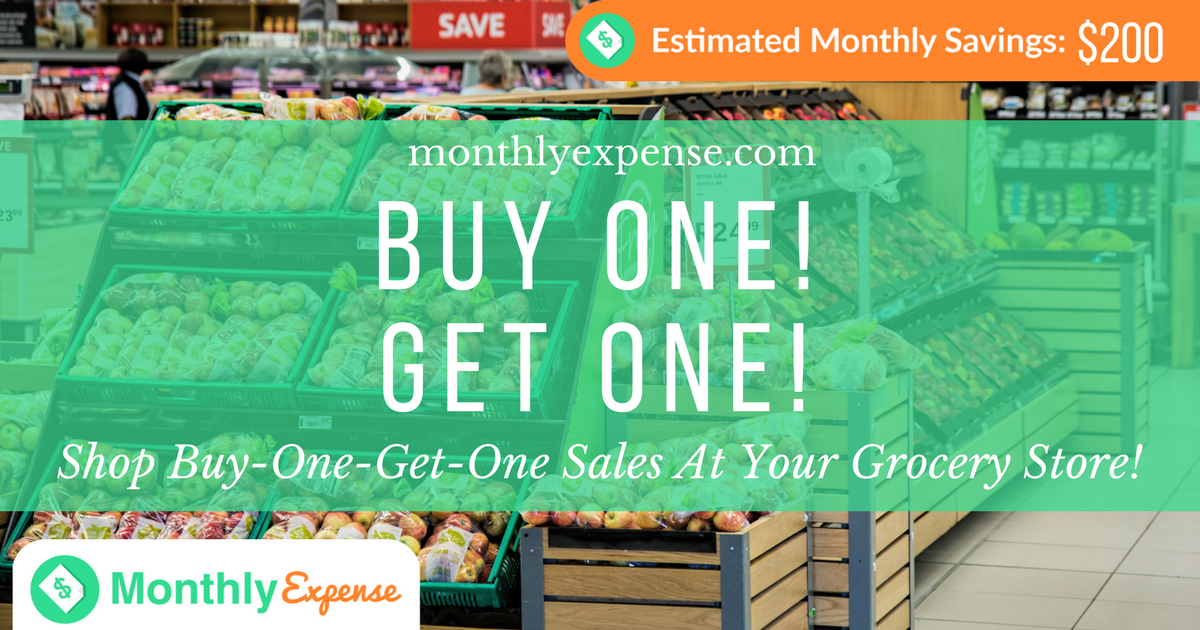 Shop Buy-One-Get-One Sales At Your Grocery Store