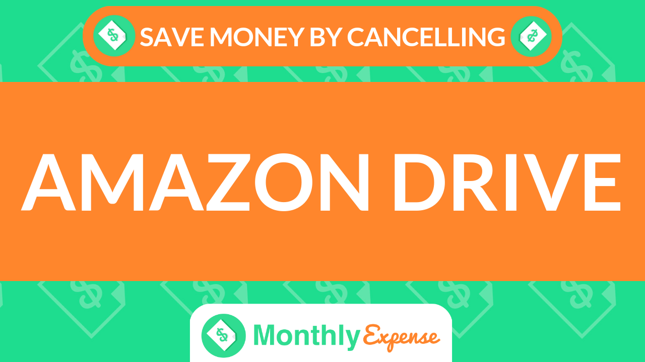 Save Money By Cancelling Amazon Drive